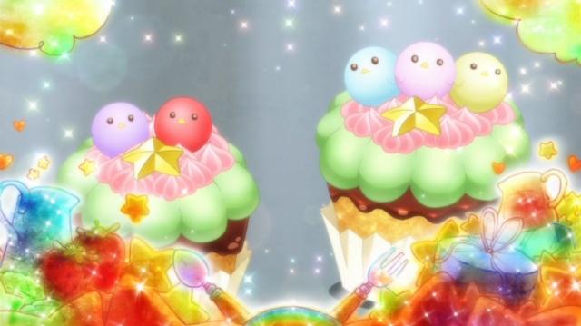 Baby bird cupcakes