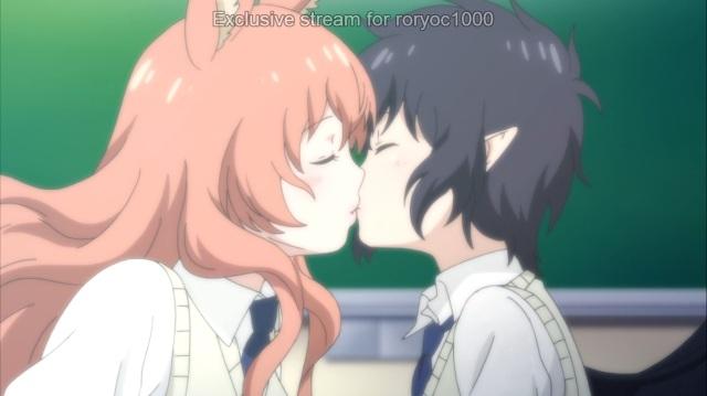 Hime kisses Nozomi