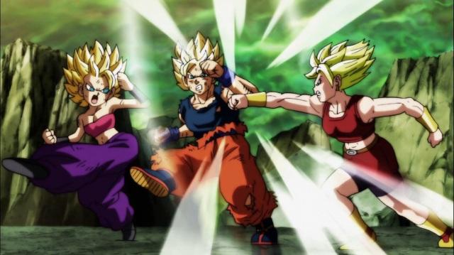 Caulifla and Kale vs Goku