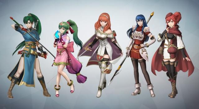Lyn, Tiki, Celica, Shiida and Anna