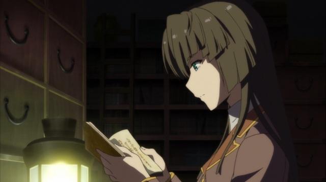 Akane researching