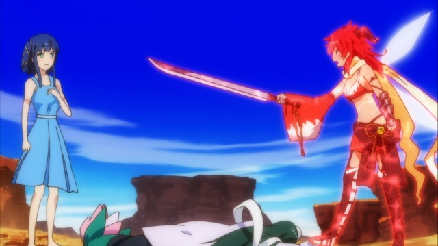 Hazuki confronts Yumilia