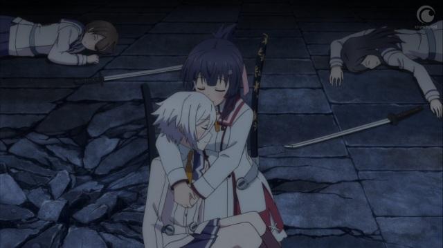 Mai hugs Sayaka