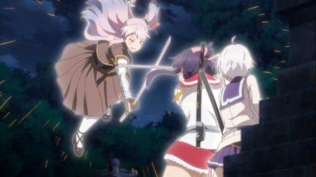 Mai protects Sayaka