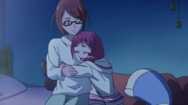 Hana hugs her Mum