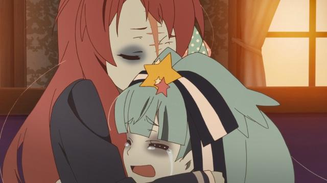 Sakura hugs Lily