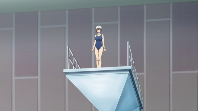 sayako on the diving board
