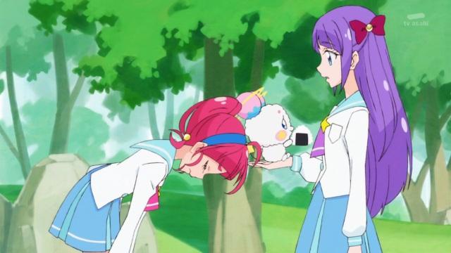 Hikaru begs Madoka