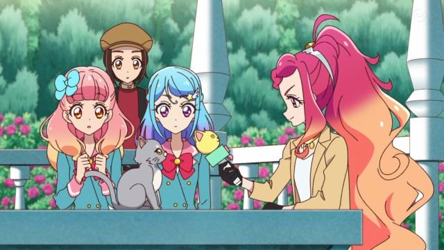 Aine, Habarazzi, Mio, Hibiki and a cat