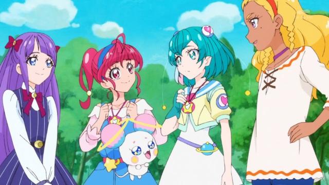 Madoka, HIkaru, Fuwa, Lala and Elena