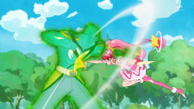 Cure Star punches Garuouga