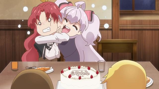 Mile hugs Reina