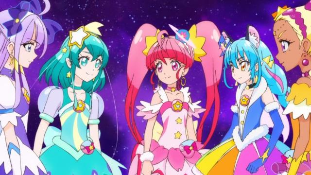 Cure Selene, Cure Milky, Cure Star, Cure Yuni, Cure Soleil
