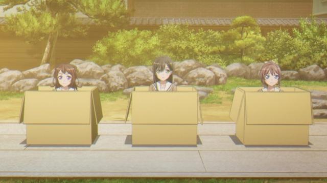 Kasumi, Tae & Saaya in boxes