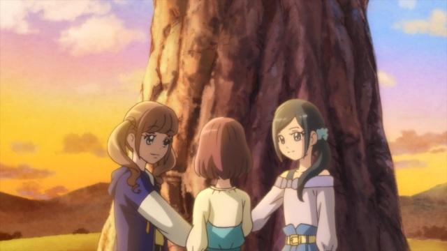Nodoka, Chiyu and Hinata vow to the Eternal Tree