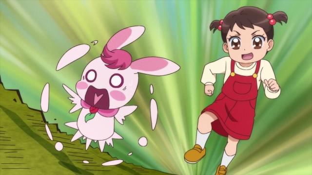 Girl chases Rabirin