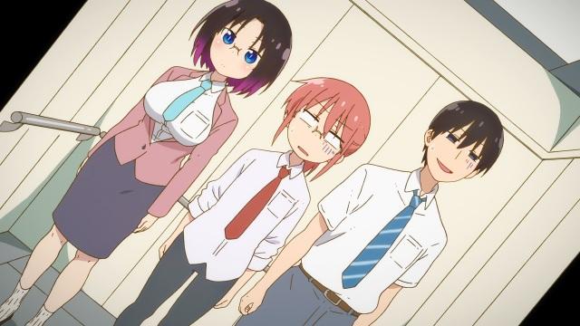 Elma, Miss Kobayashi and Takiya